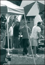 Chris on the set